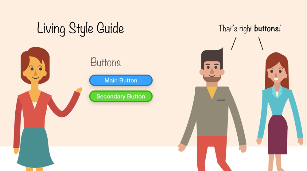 With a living style guide you can quickly show everybody what you are talking about