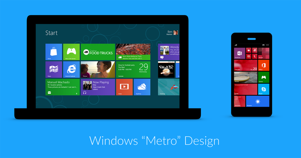 Example of Windows Metro modular design